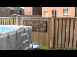 Intex Above Ground Pool Installation Part 2 Youtube