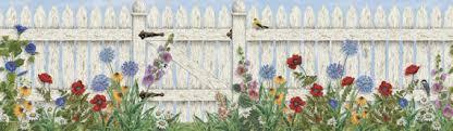 Picket Fence Garden Wall Mural Kids Wall Decor Store