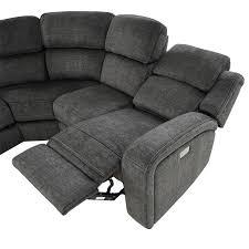 vivienne power reclining sofa w console
