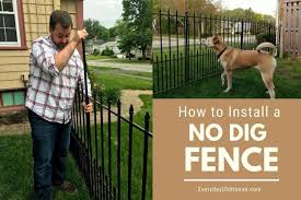 How To Install A No Dig Fence Fence From Lowes Dog Fence Pet Fence Temporary Fence For Dogs