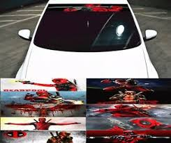 Deadpool Car Front Windshield Rear Window Sticker Graphics Decal Vinyl Comic Ebay