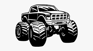 Car Monster Truck Wall Decal Sticker Silhouette Monster Truck Vector Hd Png Download Transparent Png Image Pngitem