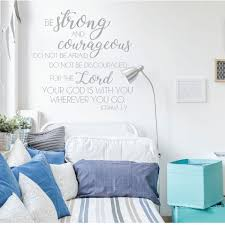 Christian Wall Decal Bible Verse Wall Decal Joshua 1 9 Be Strong And Courageous Customvinyldecor Com
