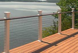 Awesome Cable Deck Railing Ideas Homedesignlatestsite Pic Diy Home Elements And Style Vertical Kits Aircraft Modern Depot Crismatec Com
