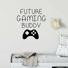 Amazon Com Gamer Wall Decal Future Gaming Buddy Vinyl Decoration For Boy S Bedroom Playroom Or Game Room Handmade