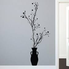 Organic Floral Vines Vase Wall Decal Shop Decals At Dana Decals