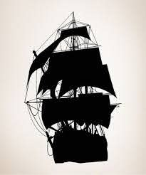 Vinyl Wall Decal Sticker Pirate Ship Silhouette Os Mb139 Ship Silhouette Pirate Ship Vinyl Wall Decals