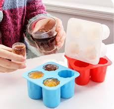 flexible silicone ice shot glass mold
