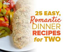 25 easy romantic dinner recipes for