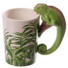 Rainforest Decal Chameleon Ceramic Mug Jungle Explorer 3d Chameleon Sh