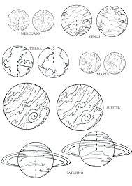 Los Planetas Del Sistema Solar Para Colorear Planetas Para