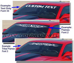 Rjw Motorsports Windshield Decal For Titan Flames