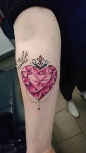 Diamentowe Serce Tatuaz Tatuaz Tatuaze Serce