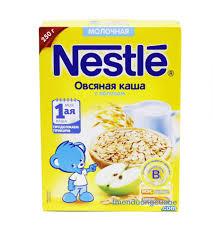 Bột ăn dặm Nestle Nga vị yến mạch, táo, sữa 250gr – Thiên Đường Của Bé