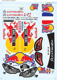 Team C 1 8 Rc Car Rally Decal For 1 8 Redbull Citroen Parts Accessories Aliexpress