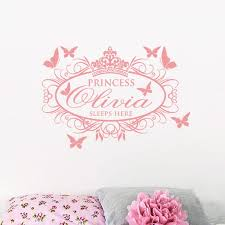 Custom Name Wall Decal Removable Wallpapers For Girl Room Decor Princess Sleep Here Wall Vinyl Sticker Wallpaper Stickers For Bedrooms Walls Decals From Onlybrand 10 26 Dhgate Com