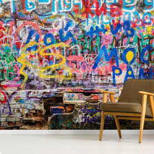 Graffiti Wallpaper Street Art Wall Murals Wallsauce Us