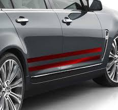 Red Stripe Car Vinyl Sticker Tenstickers