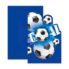 Pack De 6 Invitaciones Futbol Party Comprar Online My Karamelli