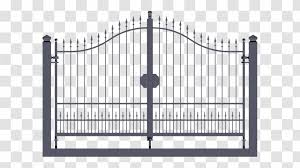 Gate Wrought Iron Fence Door Sheet Metal Transparent Png
