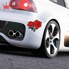 Car Styling Beautiful Rose Car Sticker Car Bumper Stickers And Decals For Ford Focus 2 Vw Kia Rio Mazda 3 Skoda Cruze Toyota Decal Tattoo Stickers Snoopystickers Bullet Aliexpress