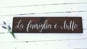Amazon.com: Venu67Hol La Famiglia e Tutto Reclaimed Wood Plaque ...