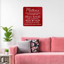 A Beautiful Gift For Mom Mothers Hold Their Child S Hearts Wall Art Realsteel Center