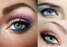 eye catching blue eyes makeup