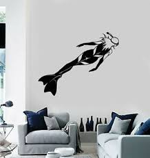 Vinyl Wall Decal Scuba Diving Underwater Diver Club Girl Woman Stickers Ig5598 Ebay