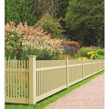 Freedom Ready To Assemble Keswick Straight 4 Ft H X 8 Ft W Sand Vinyl Fence Panel In The Vinyl Fence Panels Department At Lowes Com