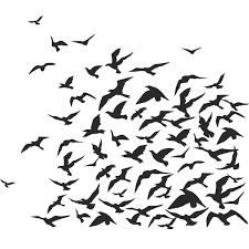 Flock Of Birds Animals Wall Art Decal Wall Stickers Transfers Ebay Animal Wall Art Bird Wall Art Flock Of Birds