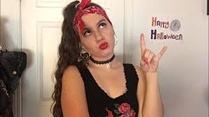 halloween biker makeup hair and
