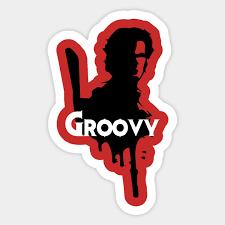 Evil Dead Groovy Evil Dead Sticker Teepublic