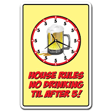 House Rules No Drinking Til After 5 3 Pack Of Vinyl Decal Stickers Walmart Com Walmart Com