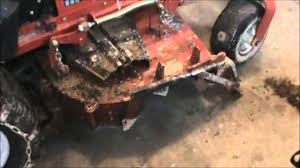 Ditch Digging With A Zero Turn Tractor Youtube