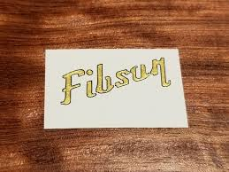 Fibson Waterslide Decal For Guitar Or Bass Gibson Style Metallic Col Stringkraft Guitar Accessories