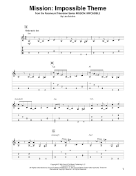 Lalo Schifrin Mission: Impossible Theme Chords, Sheet Music Notes ...