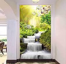 3d Outside Window Waterfall Forest Wall Sticker Decal Mural Kids Room Decor