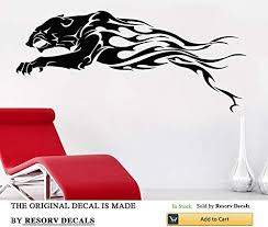 Amazon Com African Wall Decal African Wild Pride Animals Jaguar Decal Designs Art Office Home Decoration Tt6893 Home Kitchen