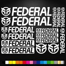 Compatible Federal Bmx Vinyl Decals Stickers Sheet Bike Frame Cycling Bicycle Ebay