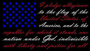 American Flag Pledge Of Allegiance Red White And Blue Vinyl Truck Window Sticker Decal 13 X 22 Wantitall