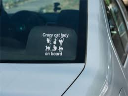 Crazy Cat Lady On Board Decal Crazy Cat Lady Vinyl Sticker Crazy Cats Crazy Cat Lady Cat Lady