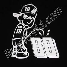 Race World Racing Stickers Clings Decals Kyle Busch 18 Pee On Dale Earnhardt Jr 88 White 5 To 7 Year Vinyl Sticker Decal Size Is 6 High 5 Wide