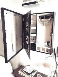 black wall mounted jewelry organizer