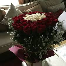 buket bunga mawar tangkai khusus gojek shopee