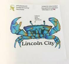 Jaco Crab Lincoln City Oregon Durable Die Cut Vinyl Sticker Car Decal Ebay