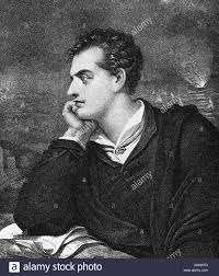 Byron, George Gordon Noel 22.1.1788 - 19.4.1824, British poet, half length,  after lithograph by Maurin, 19th century Stock Photo - Alamy