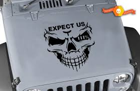 Product Jeep Decals Jeep Wrangler Expect Us Iii Vinyl Hood Decal 20 X20