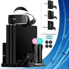 PS4 Pro Slim/PS VR Di Chuyển Thẳng Đứng Chân Đế Quạt Tản nhiệt Bộ Điều  Khiển Sạc Đế Sạc cho Máy Chơi Game Sony Playstation 4 & PSVR Di Chuyển|Giá