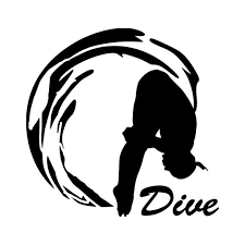 Dive Vinyl Decal Sticker Pike Position Diving Etsy